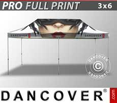 Carpa plegable FleXtents PRO con impresión digital completa, 3x6m