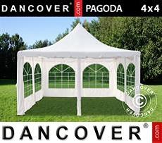 Carpa para fiestas Pagoda 4x4m, Blanco sucio