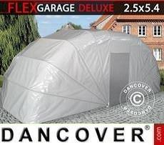 Garaje plegable (para coche), 2,5x5,4x2m, gris