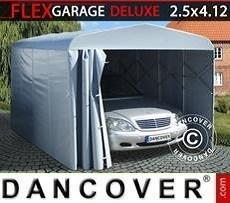 Garaje plegable tipo túnel (para coche), ECO, 2,5x4,12x2,15m, gris