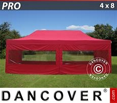 Flextents Carpas Eventos 4x8m Rojo, Incl. 6 lados