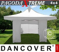 Flextents Carpas Eventos 4x4m / (5x5m) Blanco, Incl. 4 lados