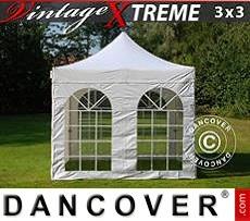 Flextents Carpas Eventos 3x3m Blanco, Incl. 4 lados