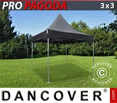 Flextents Carpas Eventos 3x3m Negro, incluye 4 muros laterales