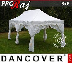 Flextents Carpas Eventos 3x6m Blanco/Oro