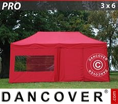 Flextents Carpas Eventos 3x6m Rojo, Incl. 6 lados
