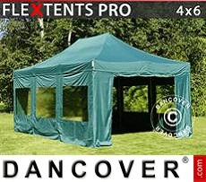 Flextents Carpas Eventos 4x6m Verde, Incl. 8 lados