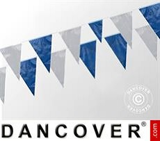 Cadena de banderines 10m, Azul/Blanca, 5 uds.
