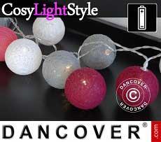 Guirnalda de luces LED con bolas de algodón, Capricorn, 30 LEDs, Mezcla de...