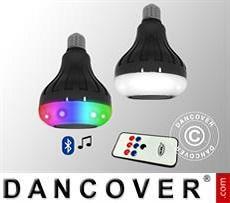 Luz disco, 8 luces LED con altavoces, E27, 9x9x13,4cm, Multicolor