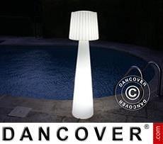 Lámpara de pie Lady, 40x40x150cm, Blanco