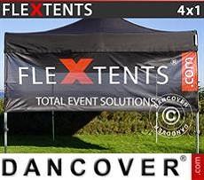 Banner impreso para carpa plegable FleXtents®, 4x1m