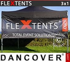Banner impreso para carpa plegable FleXtents®, 3x1m