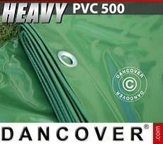 Lona impermeable 10x12m, PVC 500g/m², Verde
