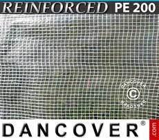 Lona impermeable Reforzado 10x14m, PE 200g/m², Transparente