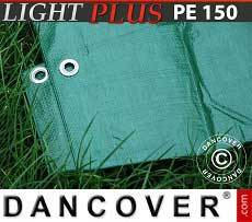 Lona impermeable 4x6m, PE 150g/m², Verde