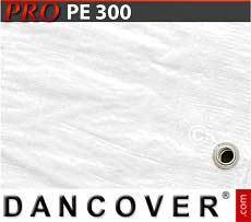 Lona impermeable 6x10m, PE 300g/m², Blanco