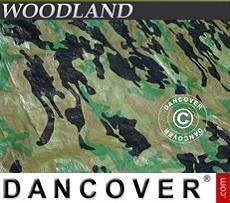 Lona impermeable de camuflaje, Woodland 5x6m, 120g/m²