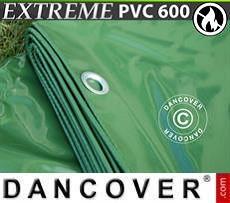 Lona impermeable 10x12m, PVC 600g/m², Verde, Ignífuga