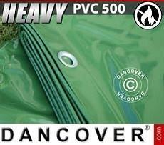 Lona impermeable 6x14m, PVC 500g/m², Verde