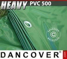 Lona impermeable 8x14m, PVC 500g/m², Verde