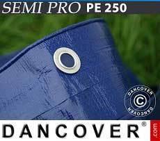 Lona impermeable 6x8m, PE 250g/m², Azul