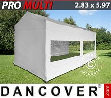 Carpa plegable Multi 2,83x5,87m Blanco, incl. 6 lados