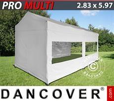 Carpa plegable Multi 2,83x5,87m Blanco, incl. 6 lados