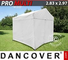 Carpa plegable FleXtents Multi 2,83x2,97m Blanco, incl. 4 lados