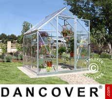 Invernadero en policarbonato Harmony 3,4m², 1,85x1,86x2,08m, Plata