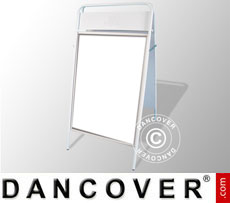 Cavalletto pubblicitario, 68x132cm, Bianco