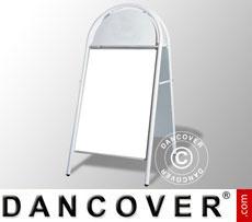 Cavalletto pubblicitario, 68x140cm, Bianco