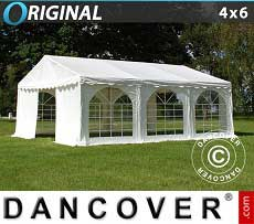 Tendoni Gazebi Party Original 4x6m PVC, Bianco