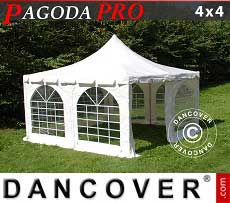 Tendoni Gazebi Party Pagoda PRO 4x4m, PVC