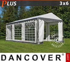 Tendoni Gazebi Party PLUS 3x6m PE, Grigio/Bianco