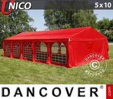 Tendoni Gazebi Party UNICO 5x10m, Rosso