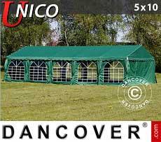 Tendoni Gazebi Party UNICO 5x10m, Verde scuro