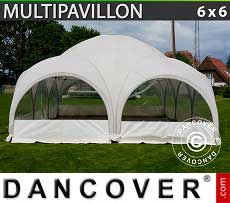 Tendoni Gazebi Party Multipavillon 6x6m, Bianco
