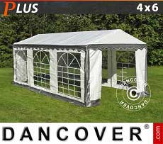 Tendoni Gazebi Party PLUS 4x6m PE, Grigio/Bianco