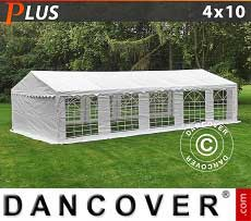 Tendoni Gazebi Party PLUS 4x10m PE, Bianco