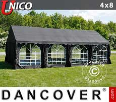 Tendoni Gazebi Party UNICO 4x8m, Nero
