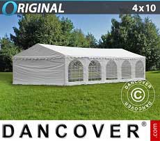 Tendoni Gazebi Party Original 4x10m PVC, Bianco