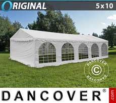 Tendoni Gazebi Party Original 5x10m PVC, Bianco