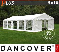 Tendoni Gazebi Party PLUS 5x10m PE, Bianco