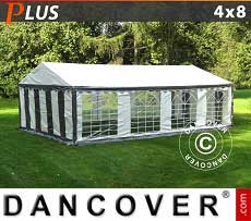 Tendoni Gazebi Party PLUS 4x8m PE, Grigio/Bianco