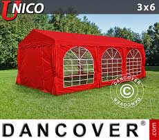 Tendoni Gazebi Party UNICO 3x6m, Rosso