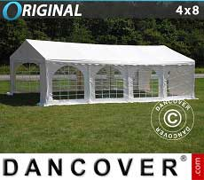 Tendoni Gazebi Party Original 4x8 m PVC, Bianco
