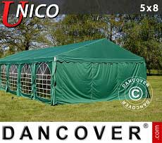 Tendoni Gazebi Party UNICO 5x8m, Verde scuro