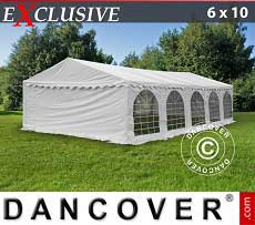 Tendoni Gazebi Party Exclusive 6x10m PVC, Bianco