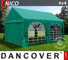 Tendoni Gazebi Party UNICO 4x4m, Verde scuro